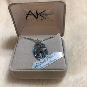 Genuine Alaskan Abalone Glacier Pearle Necklace